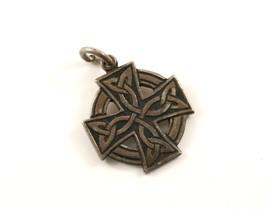 Vintage Celtic Design Cross Pendant 925 Sterling PD 1263 - $9.99