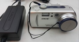 Sony DSC-P50 CyberShot 2.1-MP Digital Camera 3x Zoom and Sony AC-LS1 AC ... - $19.79