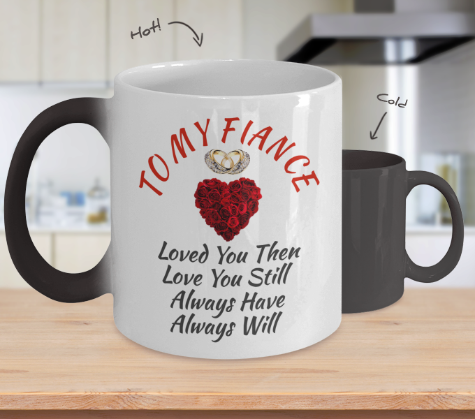 Wedding Anniversary Engagement Bride Gift For Fiance Women Color Changing Mug
