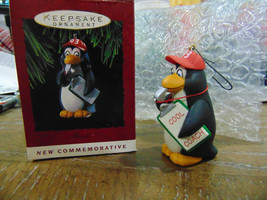 Cool Coach penguin - 1993 Hallmark Keepsake ornament in original box - $7.91