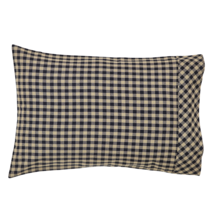 BLACK CHECK Pillow Case Set - 21x30 - Country Raven and Khaki  -VHC Brands
