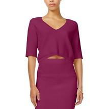 RACHEL Rachel Roy Womens V-Neck Textured Crop Top XL Fuchsia Purple $79 - $14.52