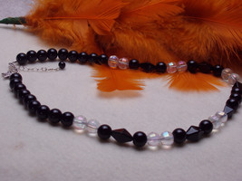 Black beaded necklace - $32.50