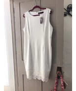 Beautiful White Designer Dress HSN SPECIAL  SZ XL Fitting Pretty Lace Work - $34.64