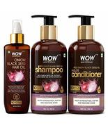 Mystic WOW Skin Science Onion Black Seed Oil Ultimate Hair Care Kit (Sha... - $49.89