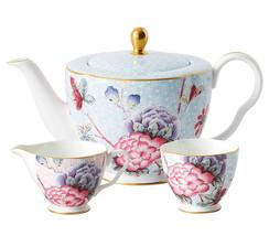 Wedgwood Cuckoo Teapot Sugar Bowl & Creamer 3 Piece Tea Set New Gift Boxed - $238.90