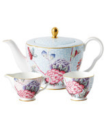 Wedgwood Cuckoo Teapot Sugar Bowl & Creamer 3 Piece Tea Set New Gift Boxed - $238.90