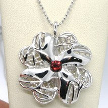 Necklace Silver 925 with Pendant Four-Leaf Clover by Maria Ielpo , Made in Italy image 1