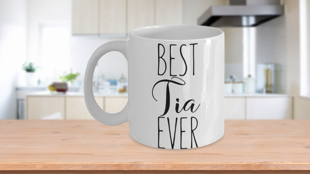 Primary image for Best Tia Ever Mug Gift For Spanish Aunt Valentine Birthday Thank You Cup Ceramic