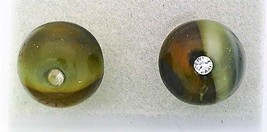 FauxTortoise Shell Glass Crystal 8mm Stud Earrings - $8.00