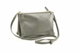 CELINE Trio 2Way Shoulder Bag Clutch Bag Black Leather Auth 10750 - $953.82 CAD