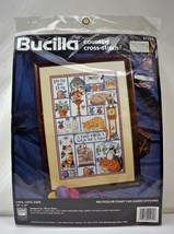 "Bucilla Cats, Cats, Cats Counted Cross Stitch Kit #41174-10""x16"" NEW Sea... - $14.20"