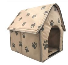 Pet Dog Bed Foldable House Small Footprint Tent Cat Kennel Indoor Portab... - $29.99