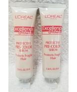 2 L'oreal Excellence Creme PROTECTIVE PRE-COLOR SERUM Fragile .34 oz/10m... - $6.93