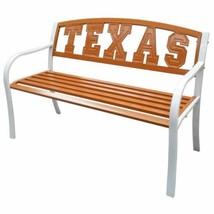Outdoor Orange UT Texas Longhorns Garden Bench Park Patio Steel Lacquer ... - $196.91