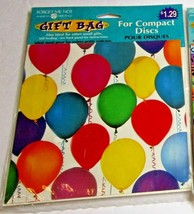 Forget Me Not Gift Bags For Compact Discs American Greetings B-Day Balloons - $5.00