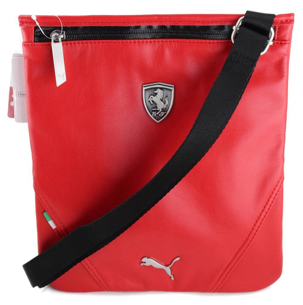 NEW PUMA PREMIUM FERRARI F1 TEAM SIDE SHOULDER SLIM MAGAZINE BAG RED PMMO1030