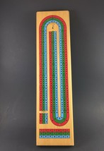 Wooden 3-Track Color Coded Cribbage Board Game w/Cribbage Board Pegs  - $8.86
