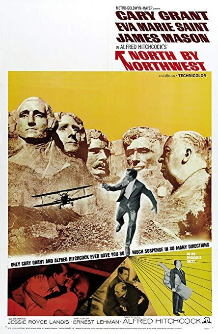 North by northwest poster mount rushmore