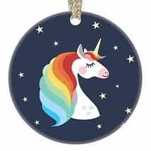 Unicorn Ornament, Rainbow Unicorn Ornament, Girl Gift Colorful Unicorn G... - $28.47