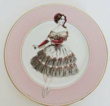 Fitz & Floyd Danseuse III dancing girl pink striped gold rim decorative ... - $19.99