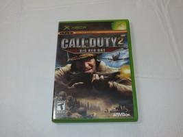 Call Of Duty 2: Grande Rojo Uno Microsoft XBOX 2005 T-Teen Tirador Segun... - $16.02
