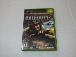 Call Of Duty 2: Grande Rojo Uno Microsoft XBOX 2005 T-Teen Tirador Segunda Mano - $16.02