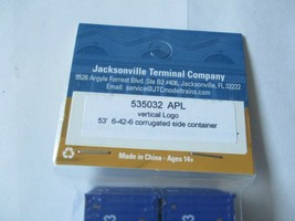 Jacksonville Terminal Company # 535032 APL Vertical Logo 53' Container image 2