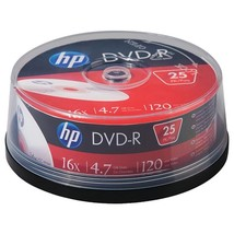 HP DM16025CB 4.7GB 16x DVD-R (25-ct Cake Box Spindle) - $22.01