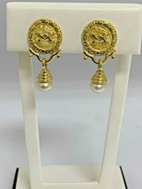 ESTATE 18K YELLOW GOLD FRESH WATER BUTTON PEARLS - $692.01