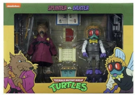 Splinter Vs Baxter Tmnt 2 Pack Neca Target Exclusive New In Hand Fast Shipping - $130.53
