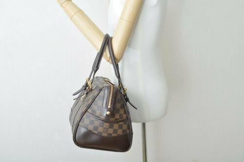 LOUIS VUITTON Damier Ebene Berkeley Hand Bag N52000 LV Auth 8184