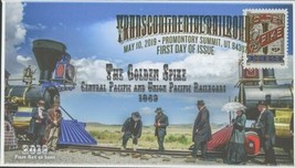 Transcontinental Railroad The Golden Spike Union Pacific FDC First Day I... - $23.76