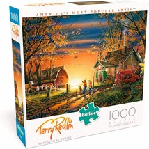 1000 Piece Jigsaw Puzzle Buffalo Terry Redlin 26 in x 19 in MORNING SURP... - $22.75