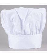 3 PACK CHEF HAT WHITE CLOTH ONE SIZE FIT ALL, FREE SHIPPING USA ONLY EAS... - $7.91