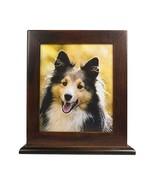 Ihomeu Dog Urn Handmade Solid Wood Urn Cat Urn Brown - $40.79