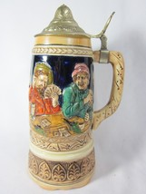 Vintage Beer Stein with Musical Box WORKING German Scene - $27.71