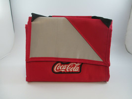 Coca-Cola Insulated Lunch Bag Red Carry Handle Rubber Patch Logo  - $4.95