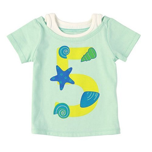 Sea Shells Pure Cotton Infant Tee Baby Toddler T-Shirt GREEN 80 CM (12-18M)