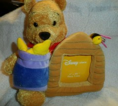"""Disney Store Honey Pot Bees Winnie The Pooh Plush Exclusive With Photo Frame 11"""" - $22.00"""