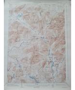 Authentic Vintage USGS Topographic Map Santanoni NY 1904/1934 - $23.65