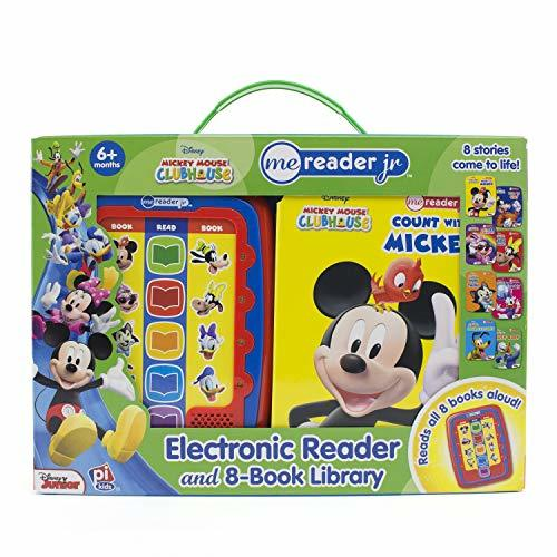 Disney Micky Mouse and Minnie Mouse - Me Reader Junior Electronic Reader and 8 B