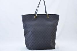 GUCCI GG Canvas Tote Bag Black Auth ar878 - $120.00