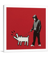ARTCANVAS Choose Your Weapon Keith Haring Dog - Red Canvas Art Print by ... - $41.99+