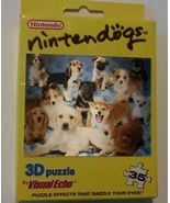 NINTENDOGS 3D PUZZLE 35-pc Nintendo Jigsaw Dogs Puppy NEW - $5.99