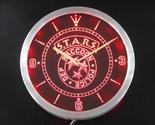Biohazard Stars RPD Resident Evil Neon Signs LED Wall Clock Display Glowing - £60.49 GBP
