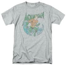 Aquaman T-shirt SuperFriends retro superhero cartoon DC grey graphic tee DCO815 image 2