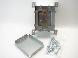 Legrand Wiremold 880S1 Omnibox 1-Gang Steel Floor Box Adjustable Covered... - $39.59
