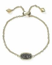 KENDRA SCOTT Elaina Drusy Adjustable Chain Bracelet - 14k Gold Plated NEW - $49.54