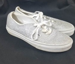 Vans Off the Wall Shoes Lace Up Silver Glittery Men's Size 5.5 Women's S... - $27.69